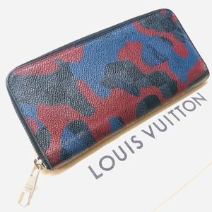 🌟LOUIS VUITTON Damier Camouflage Zippy Wallet